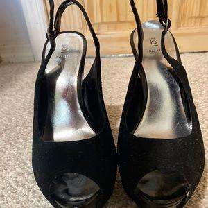 Bakers Black Sandals Heels